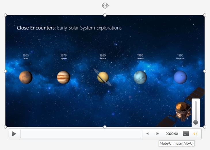 PowerPoint Mute Video